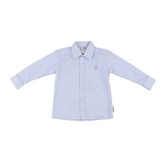 Seersucker Button Down-Blue Seersucker