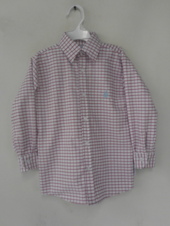 Boy's Button Down Shirt-Americana Check