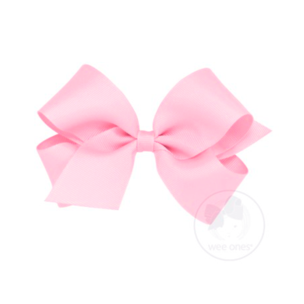 Wee Ones Medium Classic Grosgrain Hair Bow-Pink