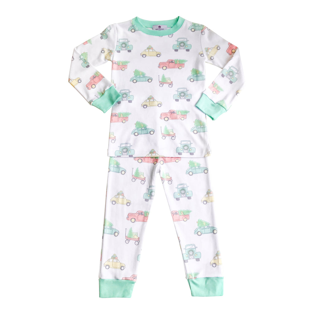 Vintage Cars & Trucks Pima Jammies-2 Piece Set