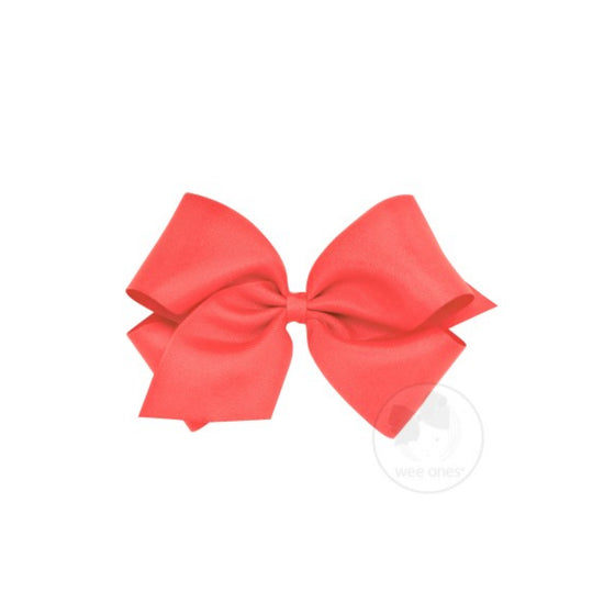 Classic Grosgrain Hair Bow-Watermelon