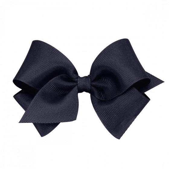Wee Ones Mini Classic Grosgrain Hair Bow-Nautical Navy