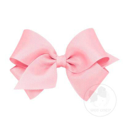 Wee Ones Mini Classic Grosgrain Hair Bow-Pink