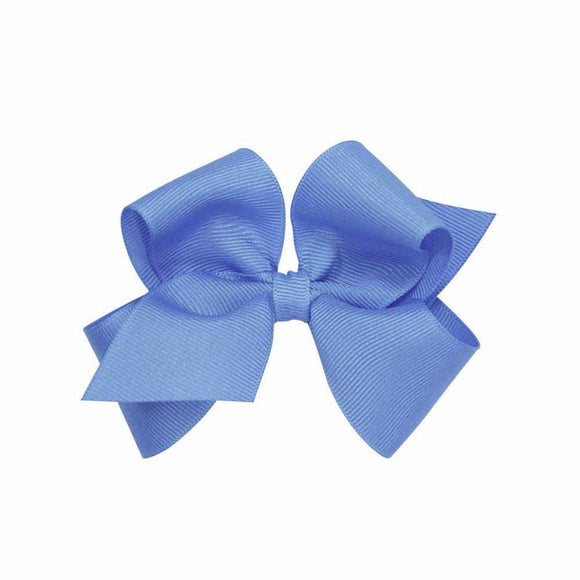 Wee Ones Mini Classic Grosgrain Hair Bow-Hydrangea Blue