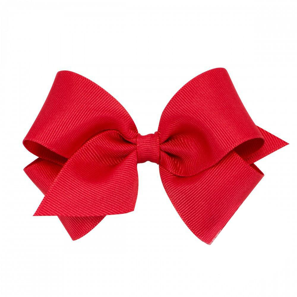 Small Classic Grosgrain Hair Bow-Royal Red