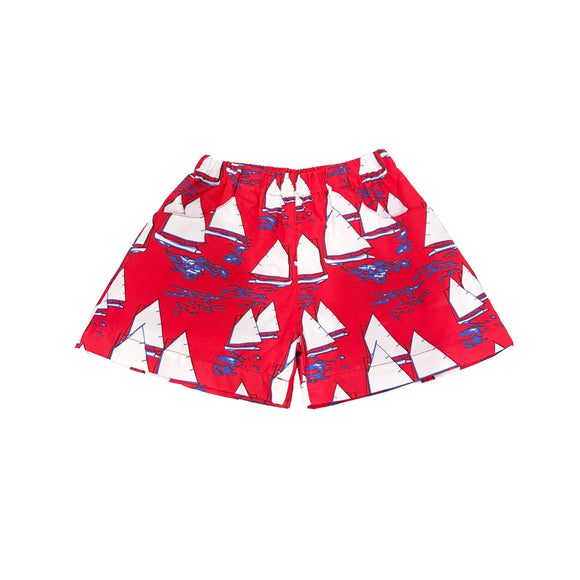 Atlantic Cup Poplin Shorts-Red
