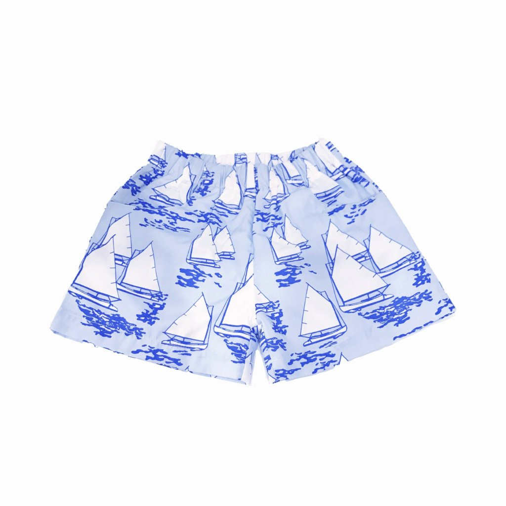 Atlantic Cup Poplin Shorts-Blue