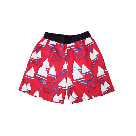 Atlantic Cup Swim Trunks-Red