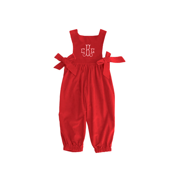 Boardwalk Romper-Royal Red