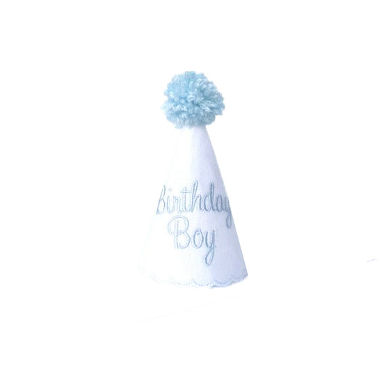 Birthday Boy Party Hat-White
