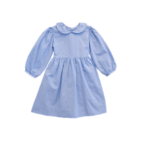 Claire Dress-Hydrangea Gingham