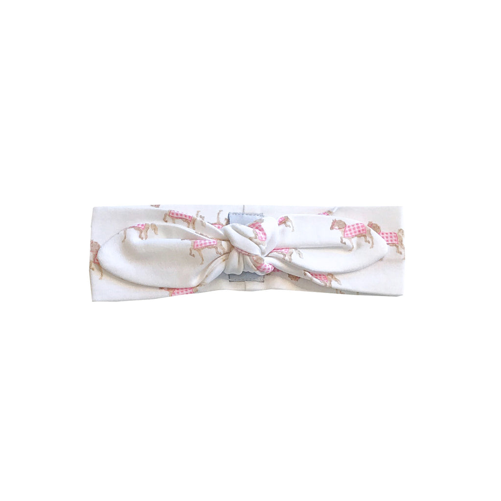 Pink Gingham Equestrian Head Band