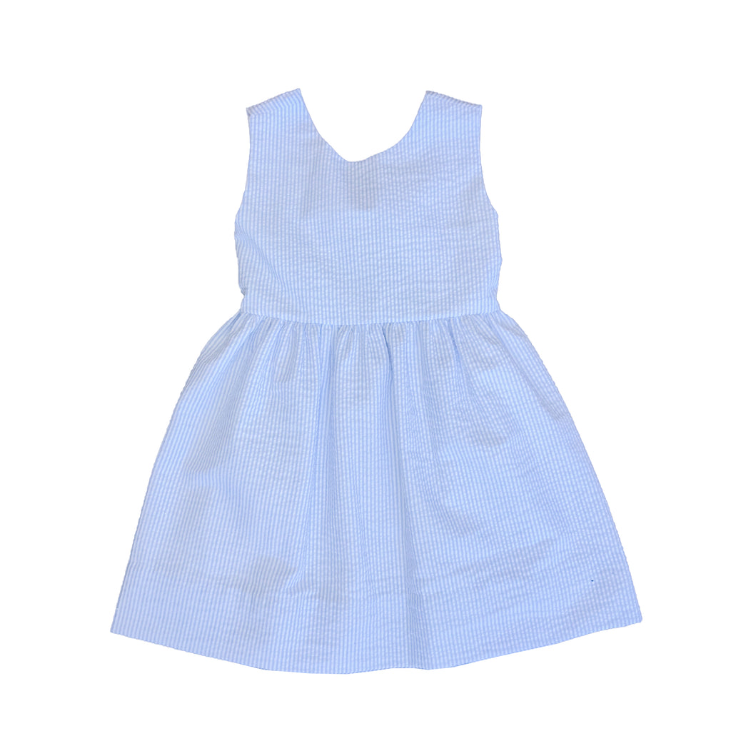 Jetties Dress-Blue Seersucker