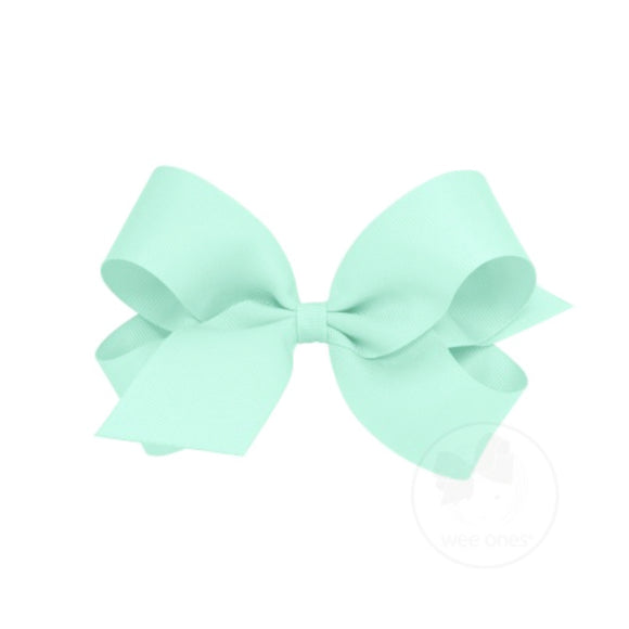 Classic Grosgrain Hair Bow-Light Mint