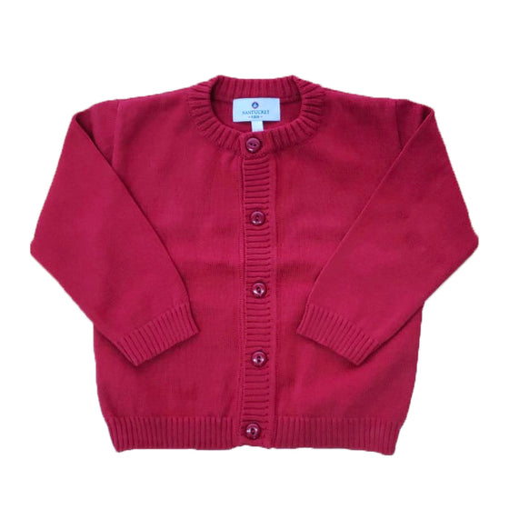 Pima Cotton Cardigan-Royal Red