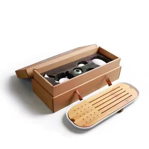 Tea Tray Set with Caddy