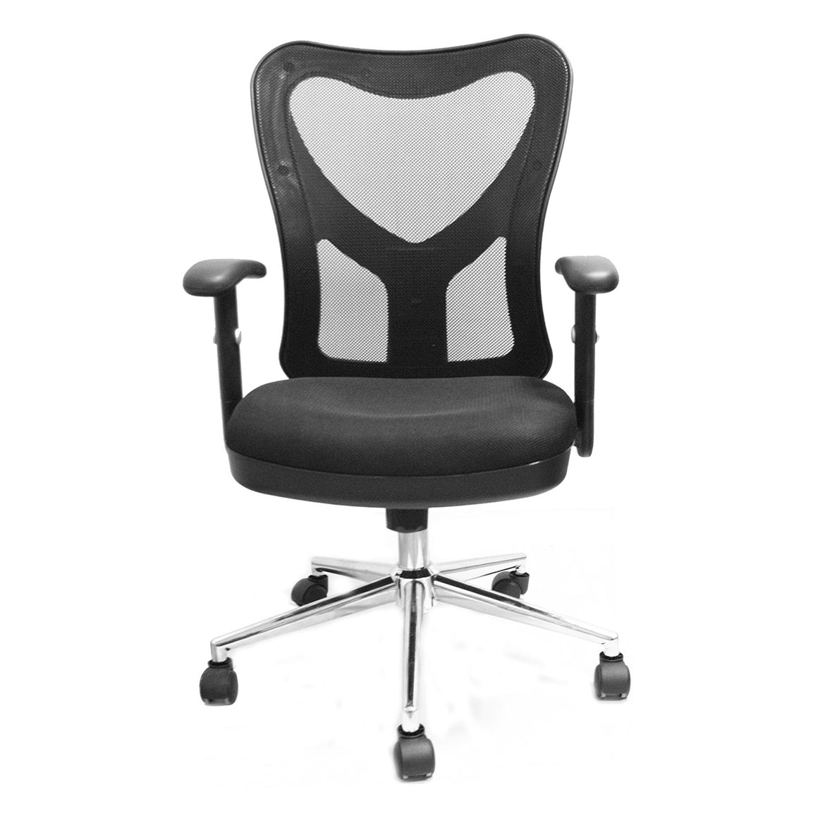 High Back Mesh Office Chair With Chrome Base