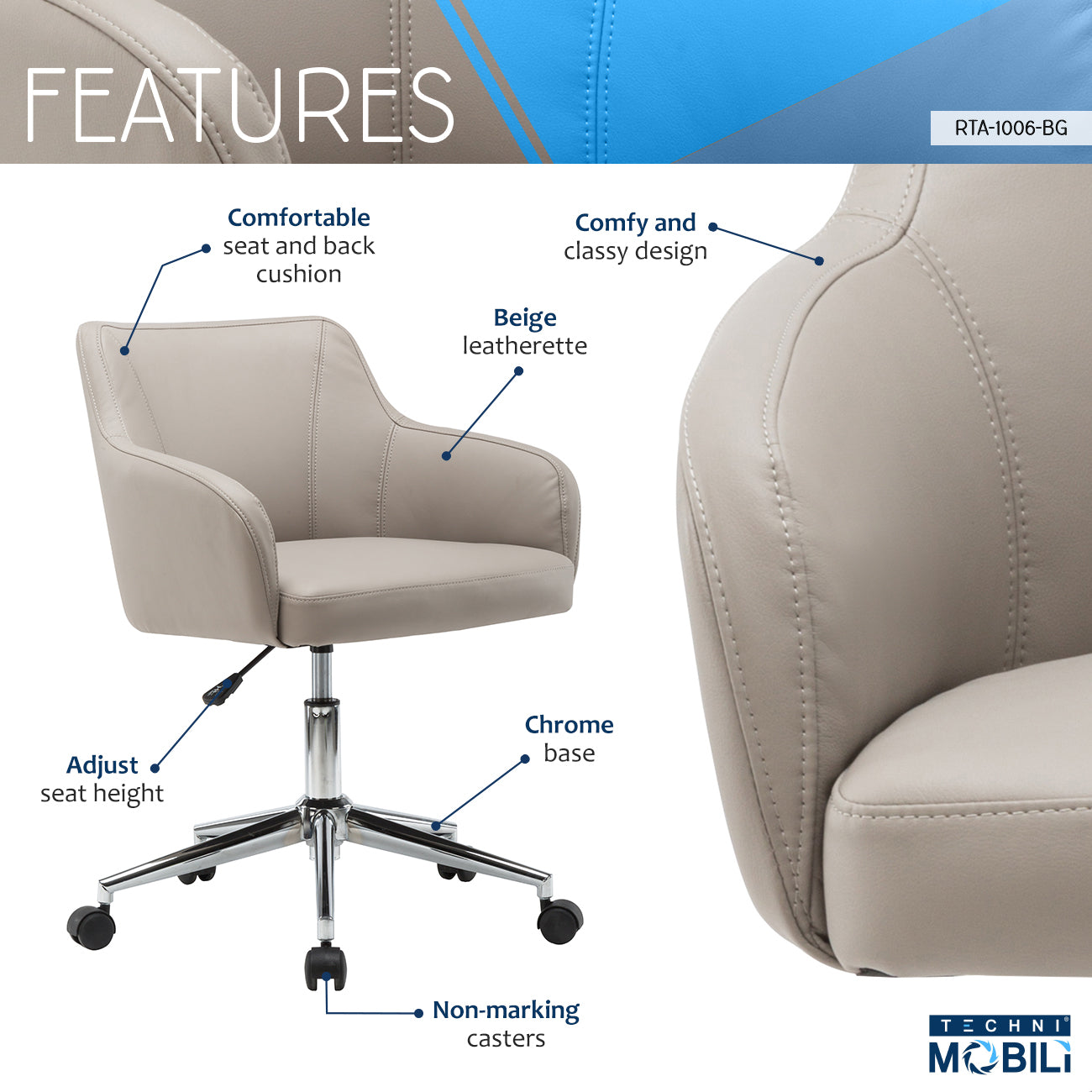 online store f6c66 8352f Comfy and Classy Home Office Chair