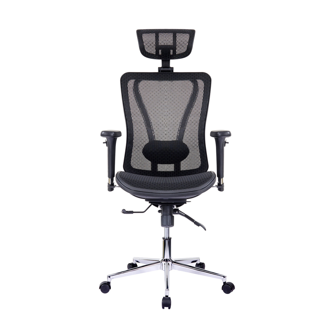 Executive Mesh Office Chair with Headrest and Lumbar Support