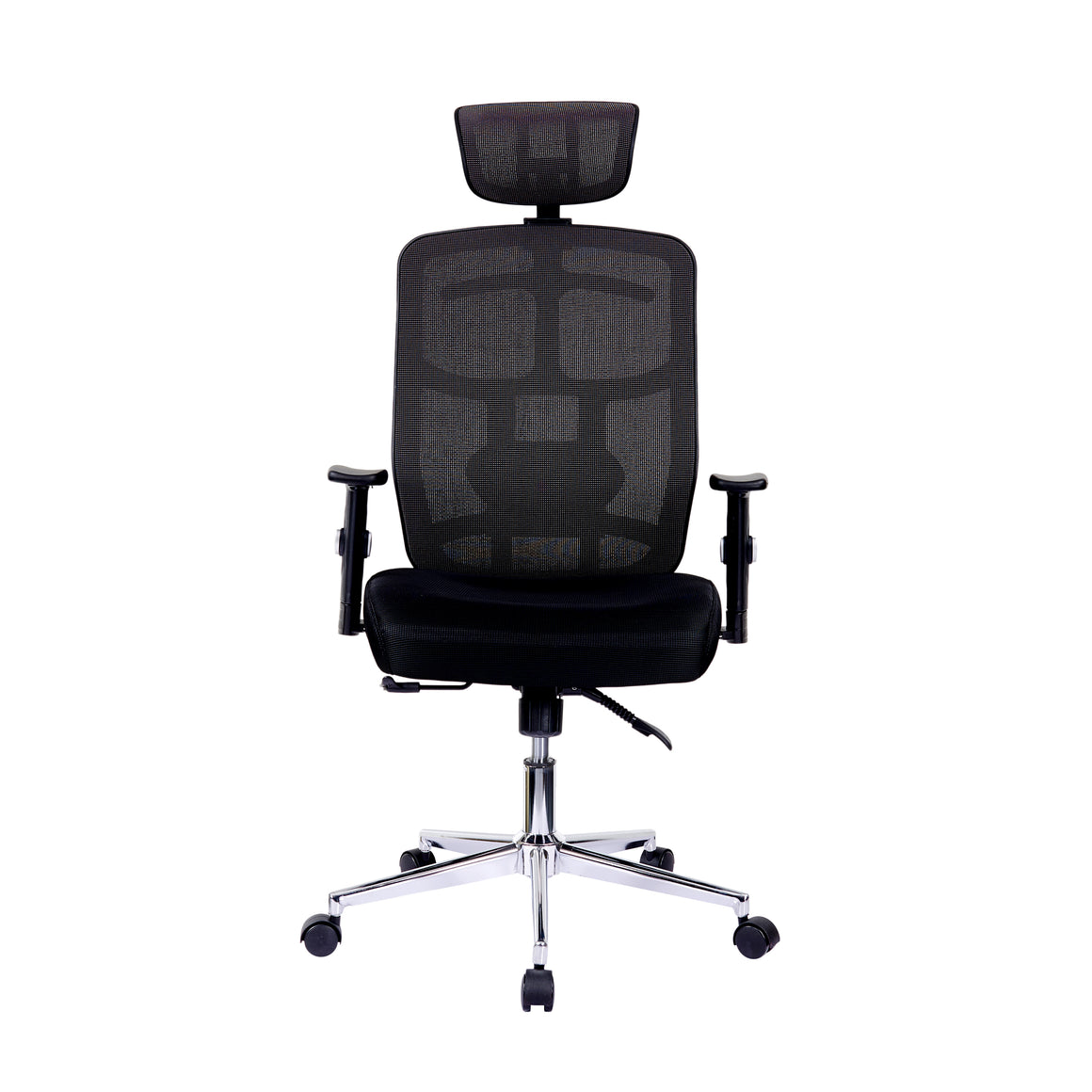 High Back Executive Mesh Office Chair with Arms, Lumbar Support and Chrome Base