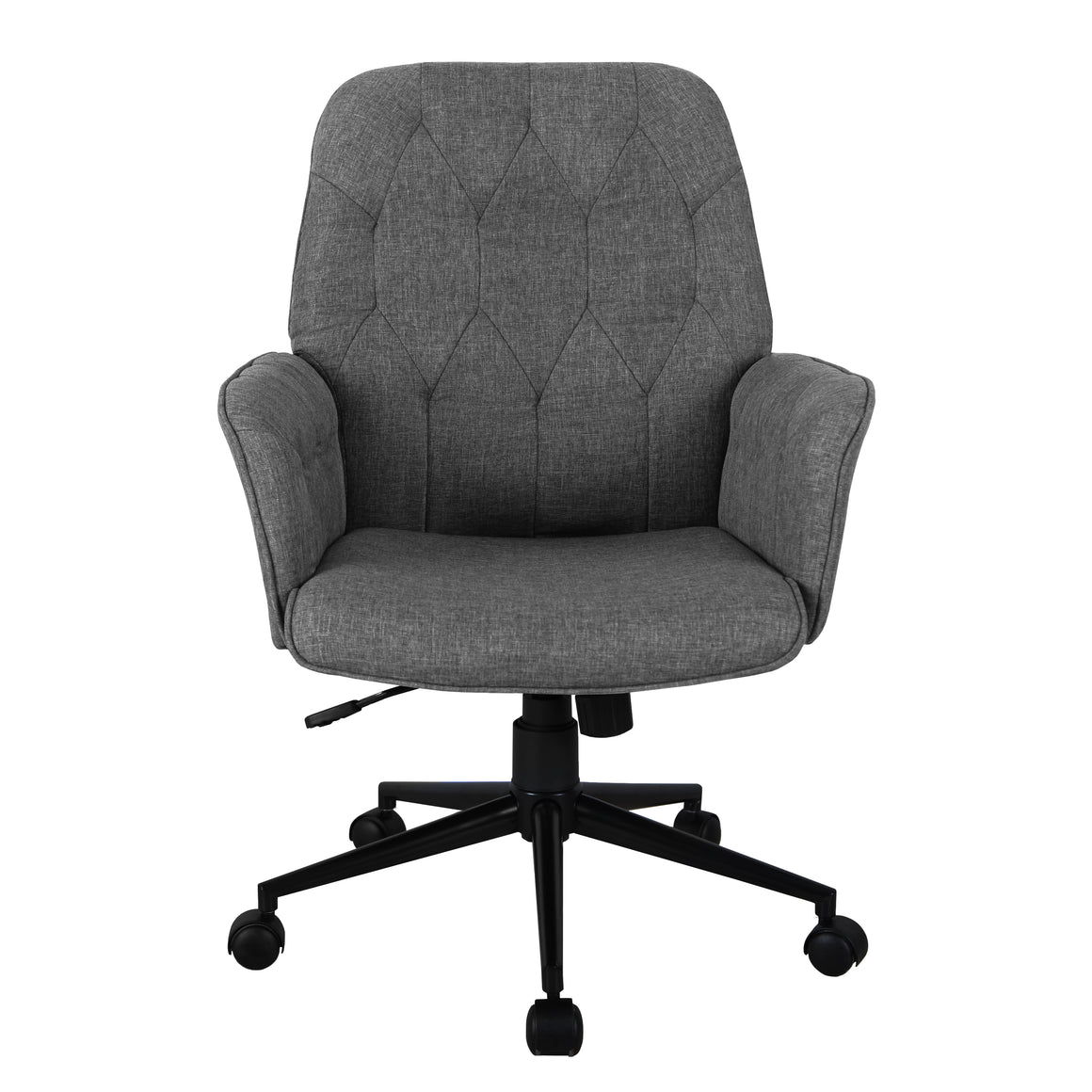 Modern Upholstered Tufted Office Chair with Arms