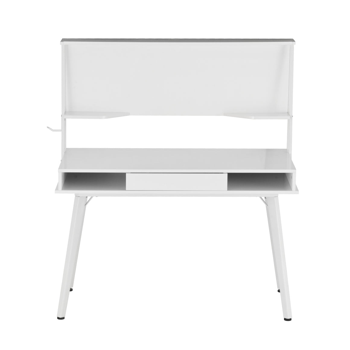 Study Computer Desk with Storage & Magnetic Dry Erase White Board