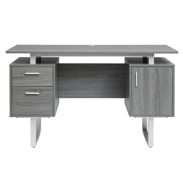 Modern Grey Office Desk With Storage Techni Mobili