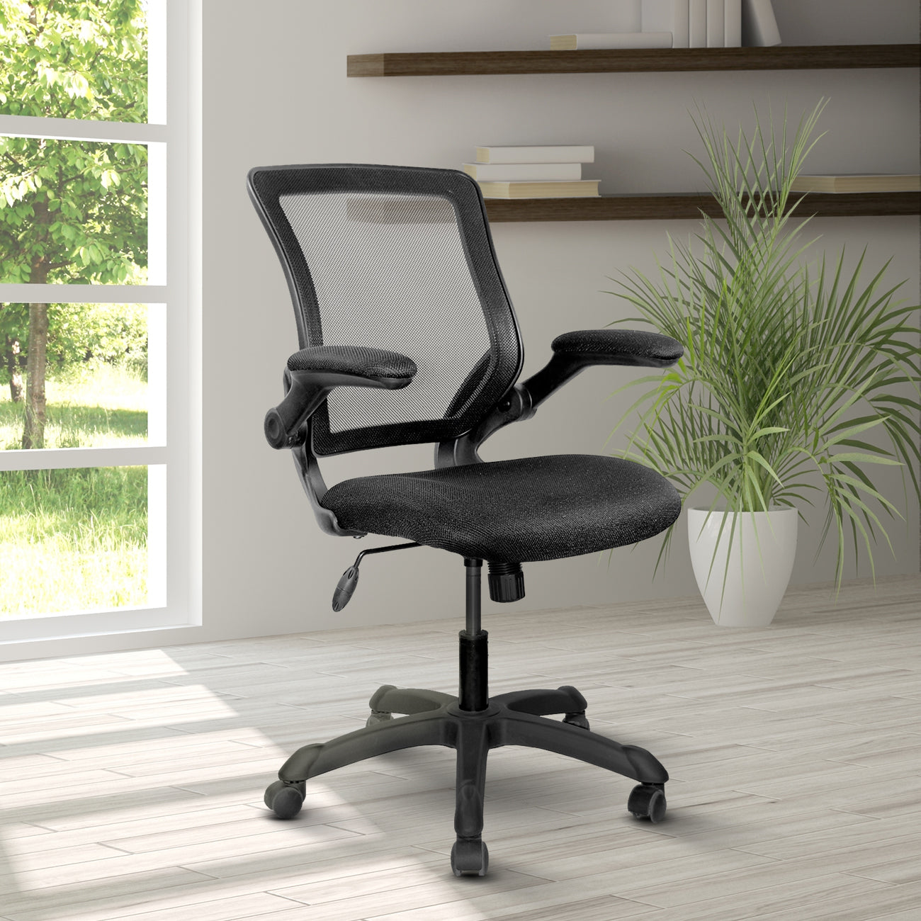 Mesh Task Office Chair With Flip Up Arms Techni Mobili