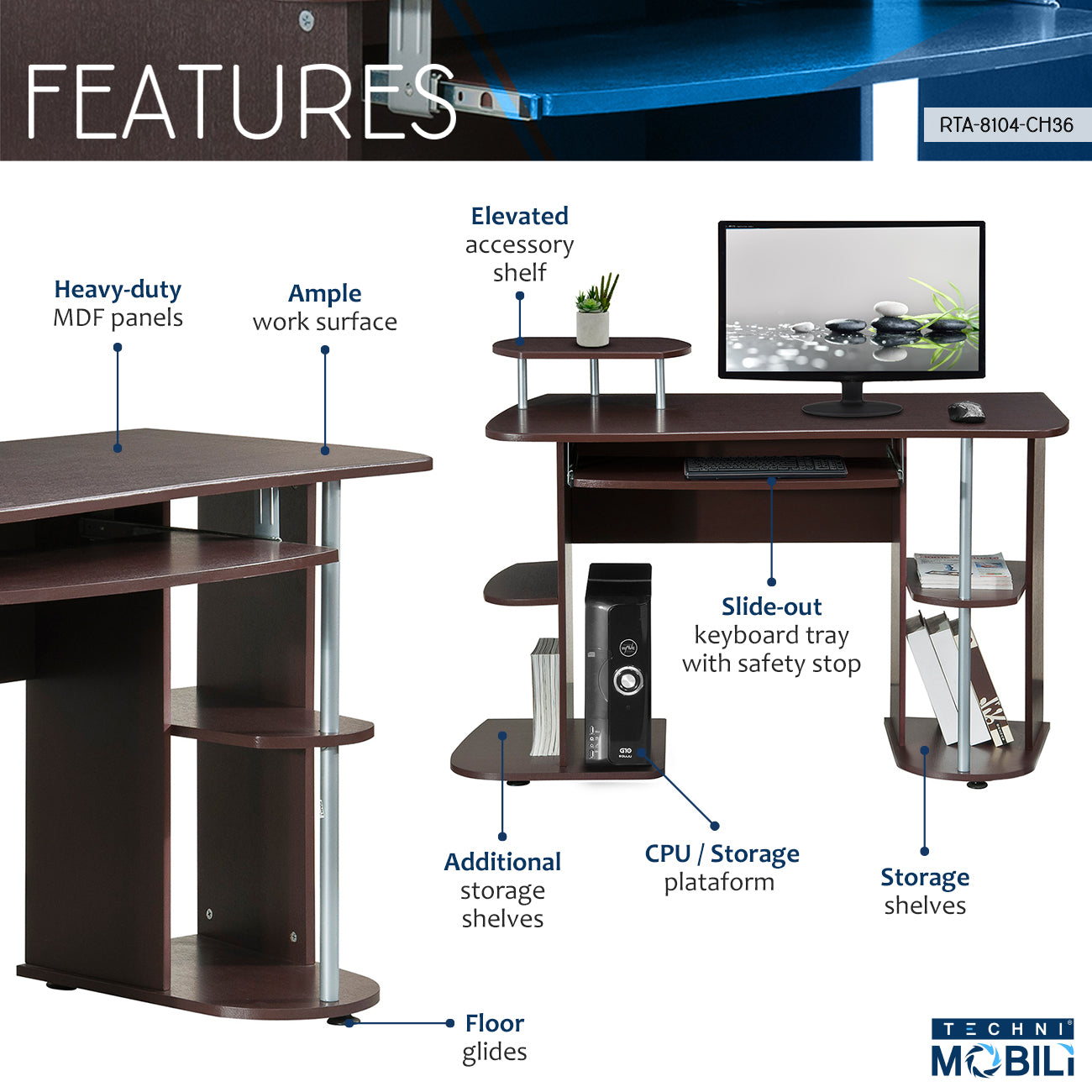 Workstation Tagged Quot Shelves Quot Techni Mobili