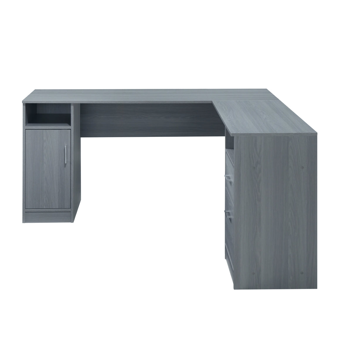 Functional L-Shape Desk with Storage