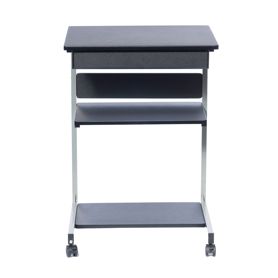 Rolling Laptop Cart with Storage