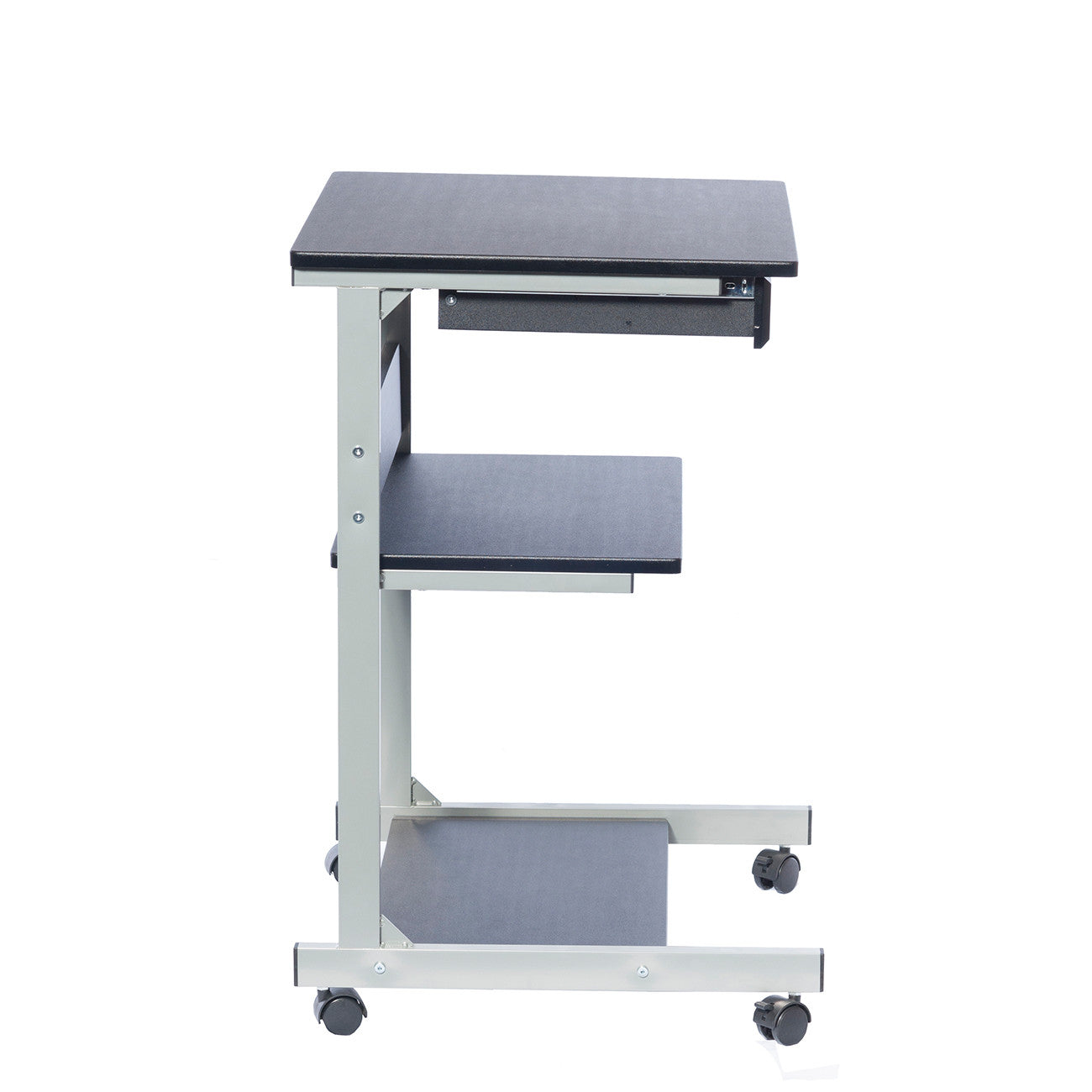 Sit To Stand Rolling Adjustable Height Laptop Cart With
