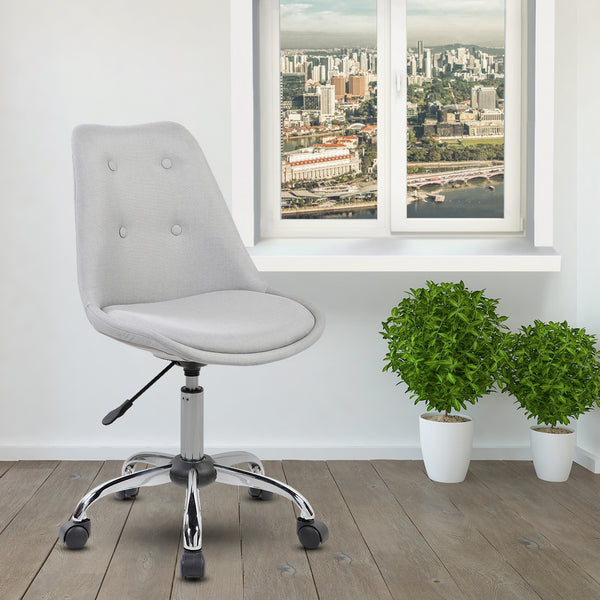 ... Armless Task Chair With Buttons ...