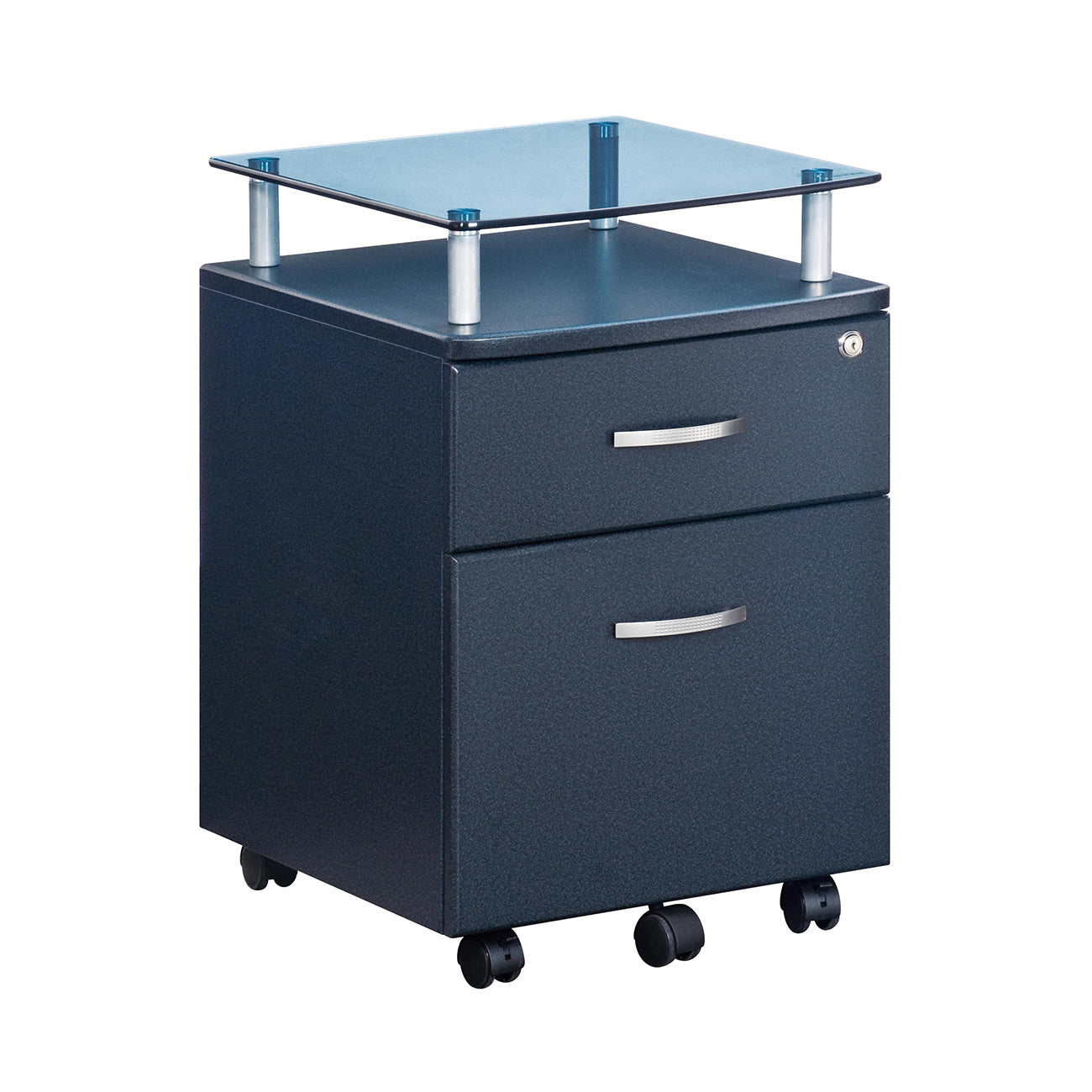 Genial Rolling File Cabinet With Glass Top