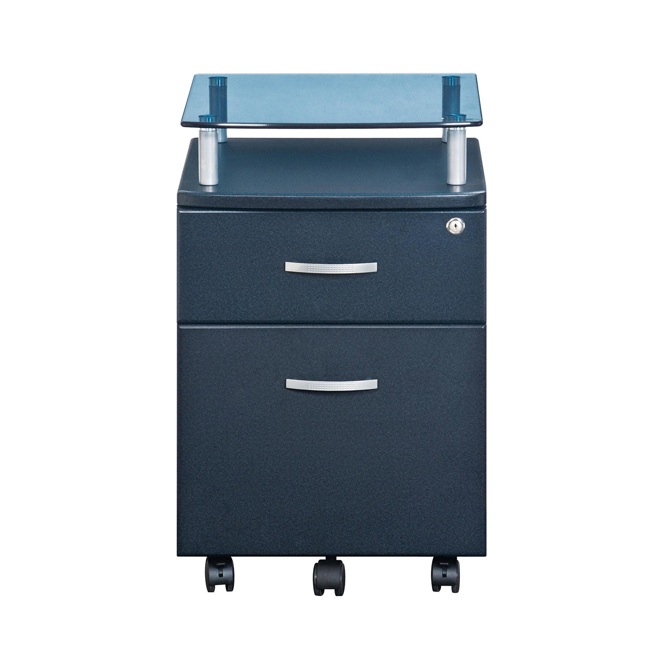 Attractive Rolling File Cabinet With Glass Top