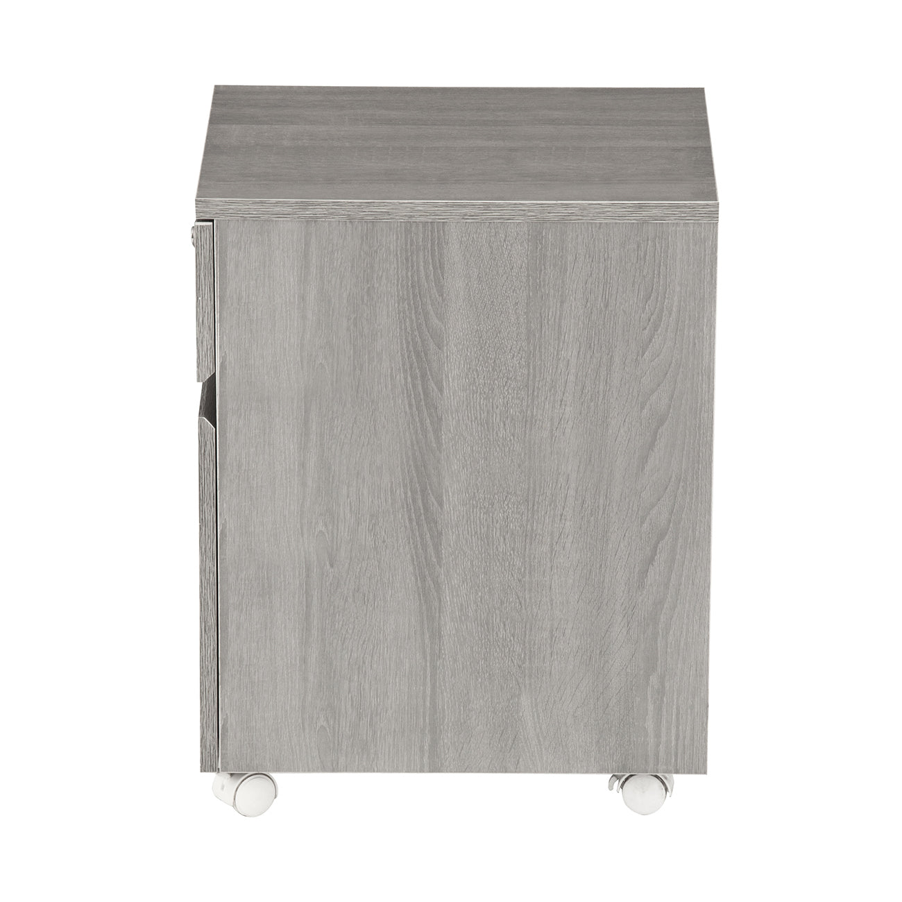Rolling Two Drawer Vertical Filing Cabinet With Lock And Storage