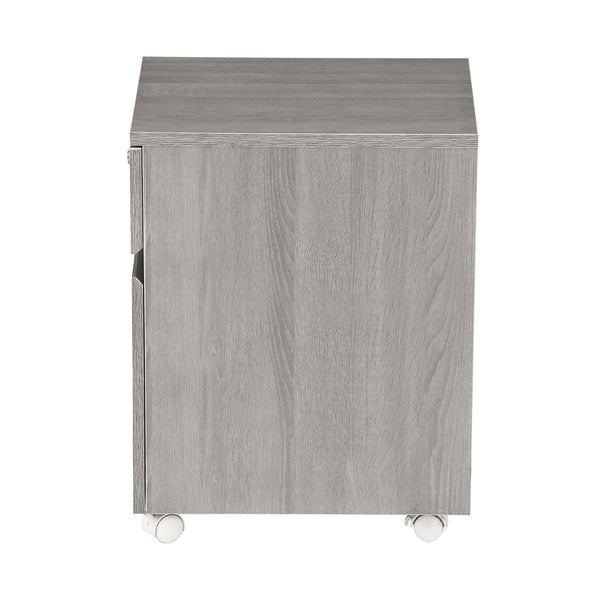 Rolling Two Drawer Vertical Filing Cabinet With Lock And