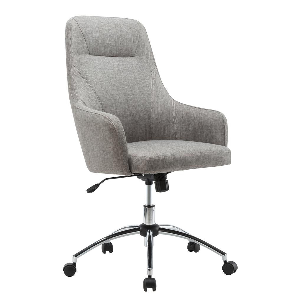 techni mobili comfy height adjustable rolling office chair with wheels