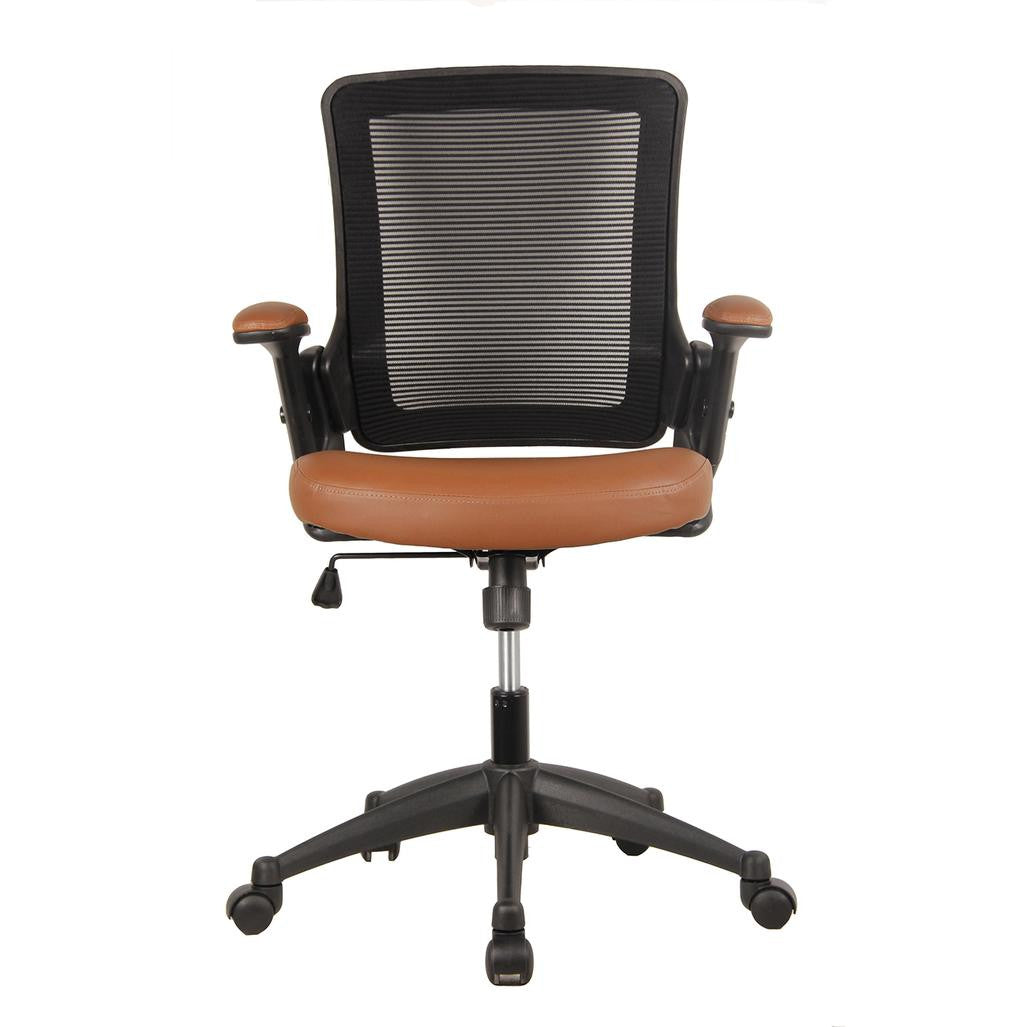 Mid-Back Mesh Office Chair with Height Adjustable Arms