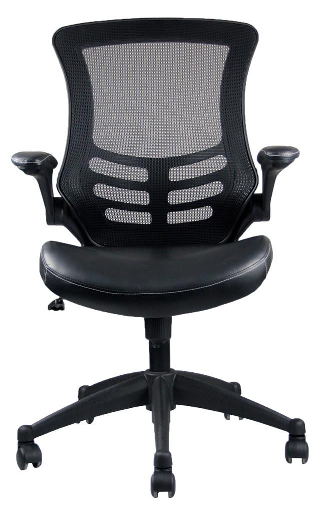 Stylish Mid-Back Mesh Office Chair With Adjustable Arms