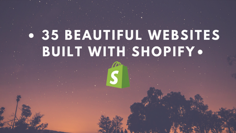 35 beautiful fashion and lifestyle websites built with Shopify
