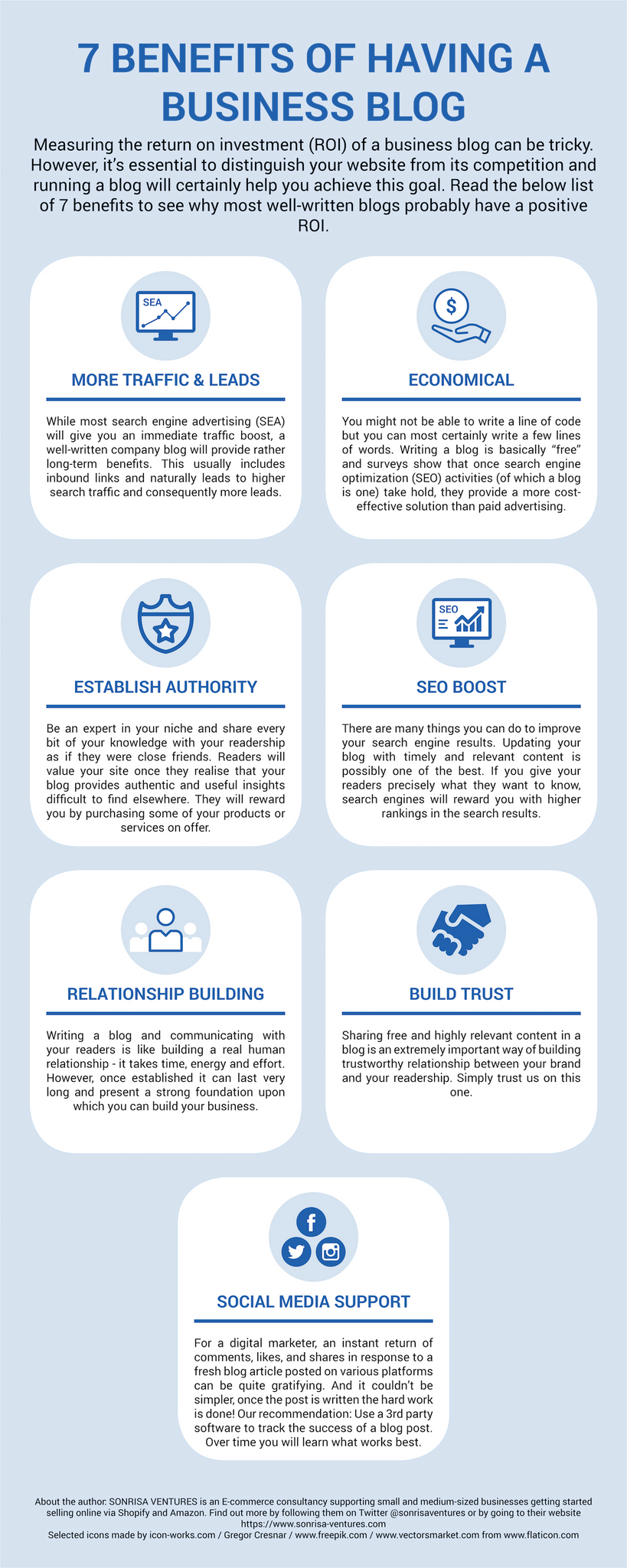 7 benefits of having a business blog.