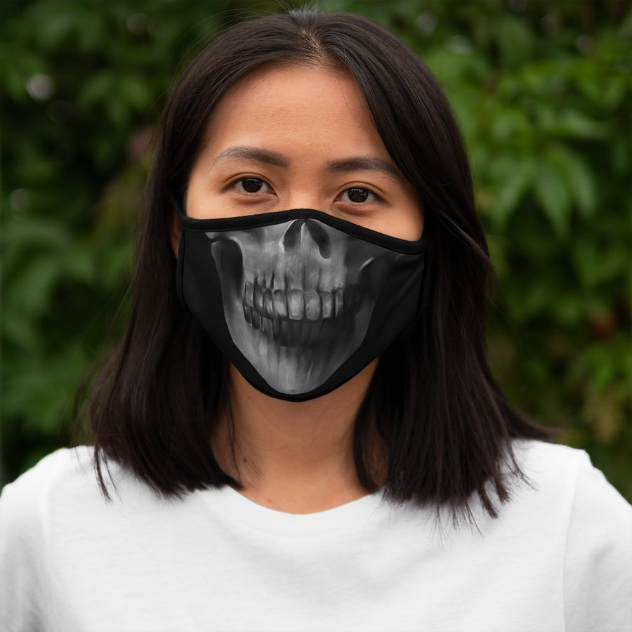 Skull Fitted Polyester Face Mask - Raven Fightwear - US