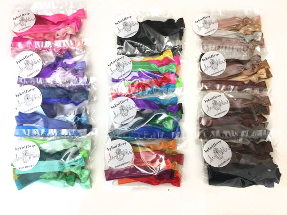 10 Pack of Elastic Hair Ties