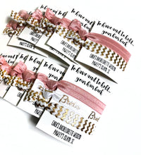 Bachelorette Party Favors - Set of 2 Hair Ties on a Personalized Card