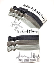 Charcoal Ombre Elastic Hair Ties
