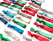 Christmas Hair Tie Grab Bag | Mix of 5, 10,15 or 20 Holiday Elastic Ponytail Holders