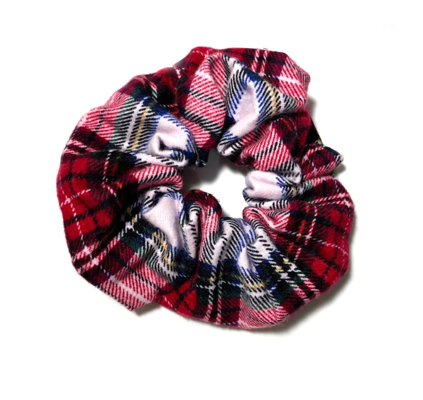 Holiday Plaid Scrunchie | Christmas Hair Accessory