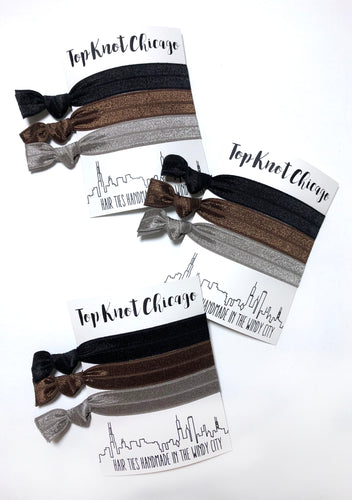 Black, Brown and Gray Hair Elastics | Everyday Package