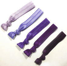Purple Ombre Package - Set of 5 Elastic Hair Ties - Wholesale